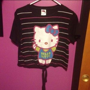 Hello Kitty Tie In Front Shirt